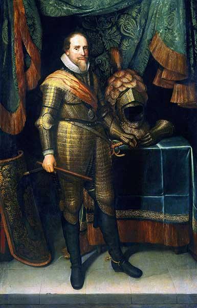 Portret Maurits van Oranje door Michiel Jansz van Mierevelt geschilderd