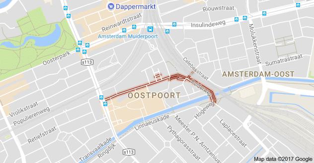 Polderweg op Google Maps