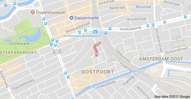 Ter Gouwstraat op Google Maps