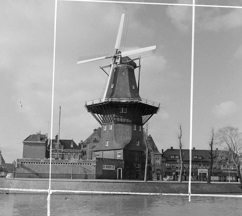 Molen gezien vanaf cruquiuskade in 1962