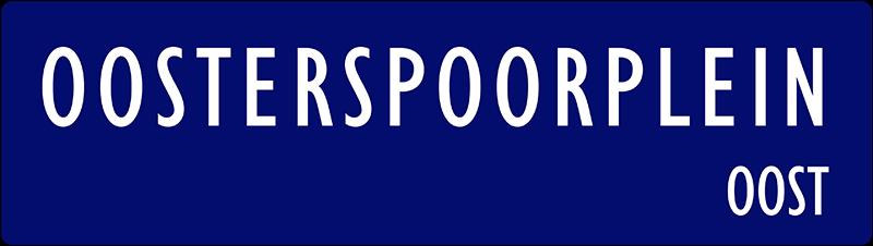 straatnaambordje oosterspoorplein