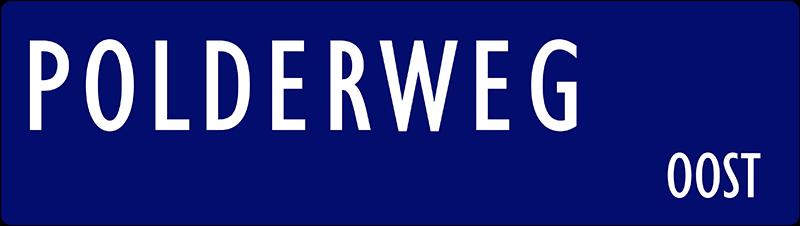 straatnaambordje polderweg
