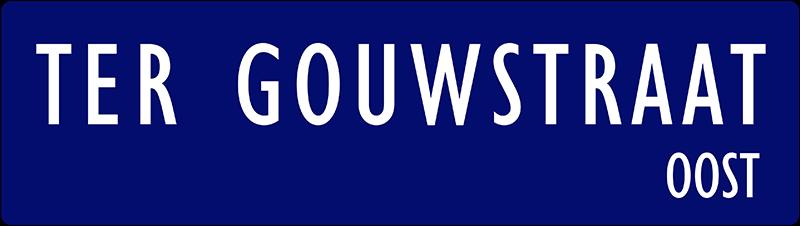straatnaambordje ter gouwstraat