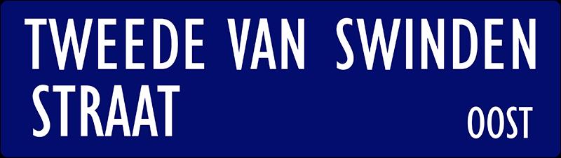 straatnaambordje tweede van swindenstraat