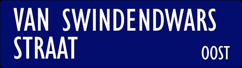 straatnaambordje van swindendwarsstraat