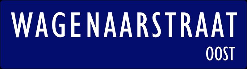 straatnaambordje wagenaarstraat