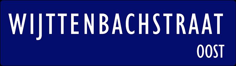 straatnaambordje wijttenbachstraat
