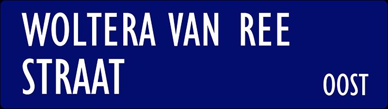 straatnaambordje woltera van reestraat