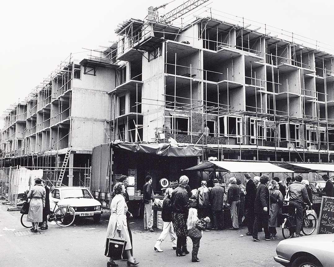 Nieuwbouw begin oost-deel Commelinstraat