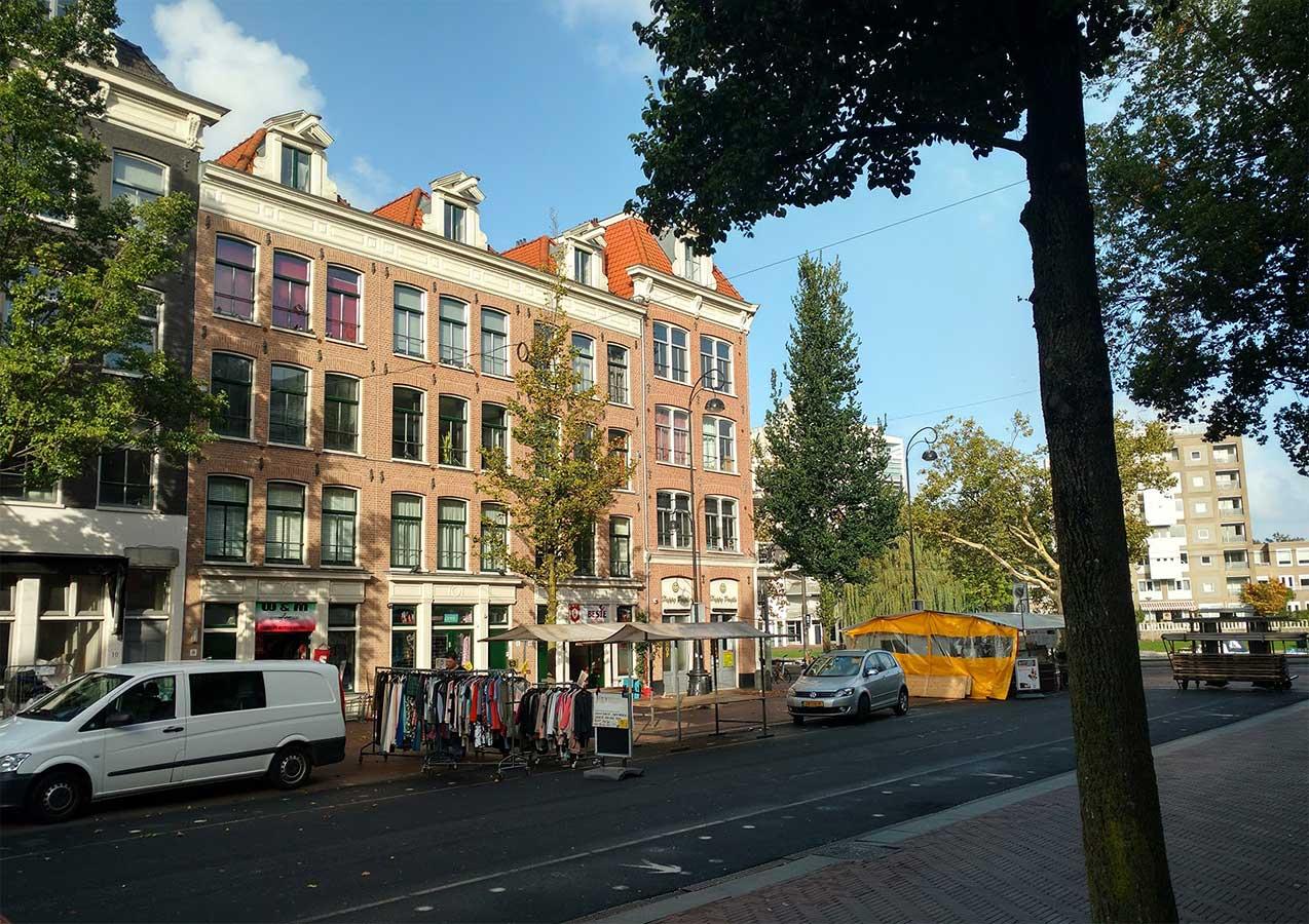 Begin van Dapperstraat maar einde Dappermarkt