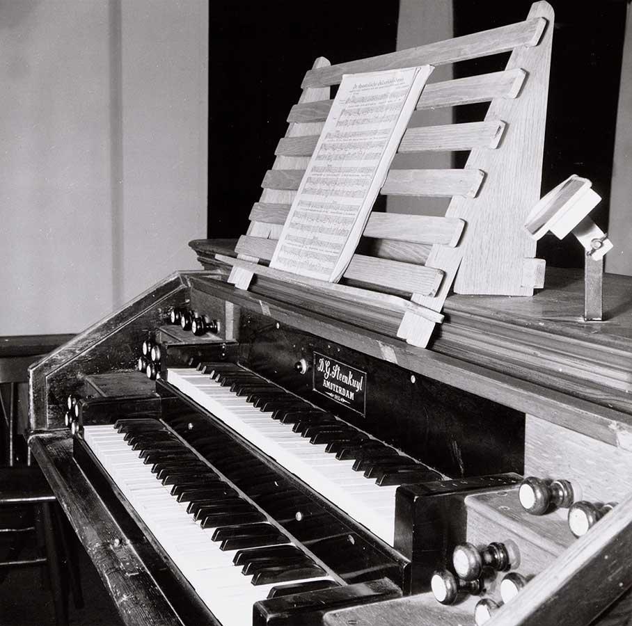 Klavier van het orgel in Muiderkerk