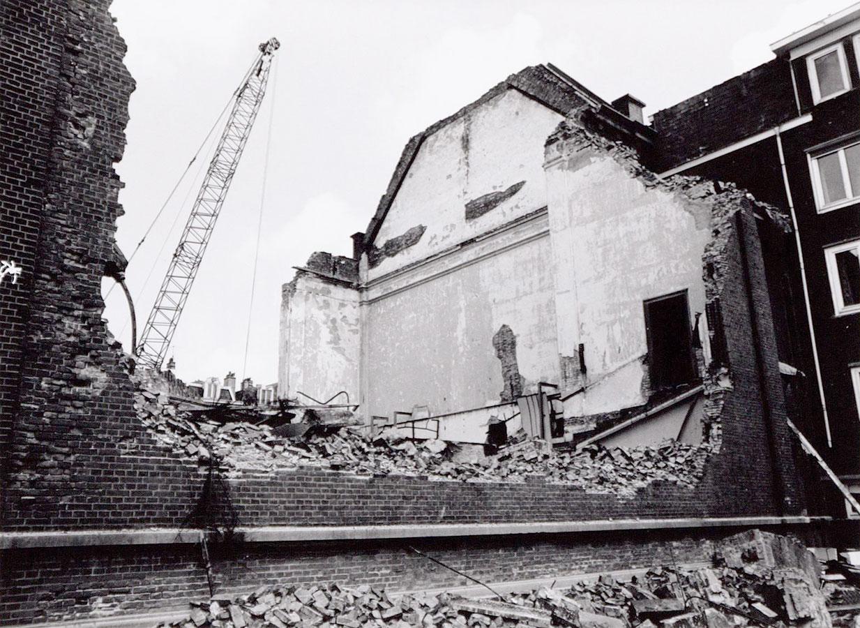 Ruïne na brand 31 oktober 1989