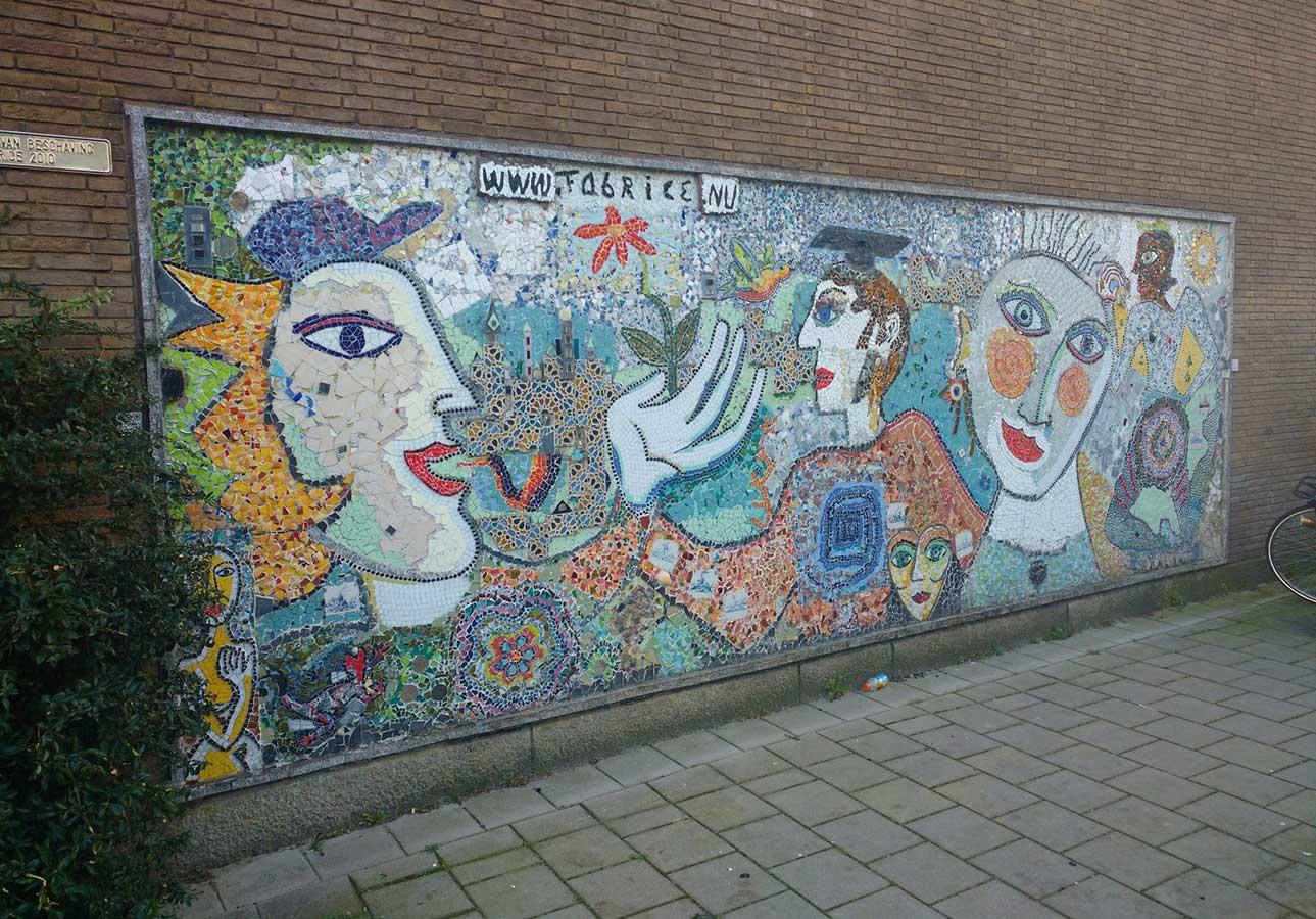 Fabrice mozaiek-kunstwerk Muiderpoortstation Amsterdam