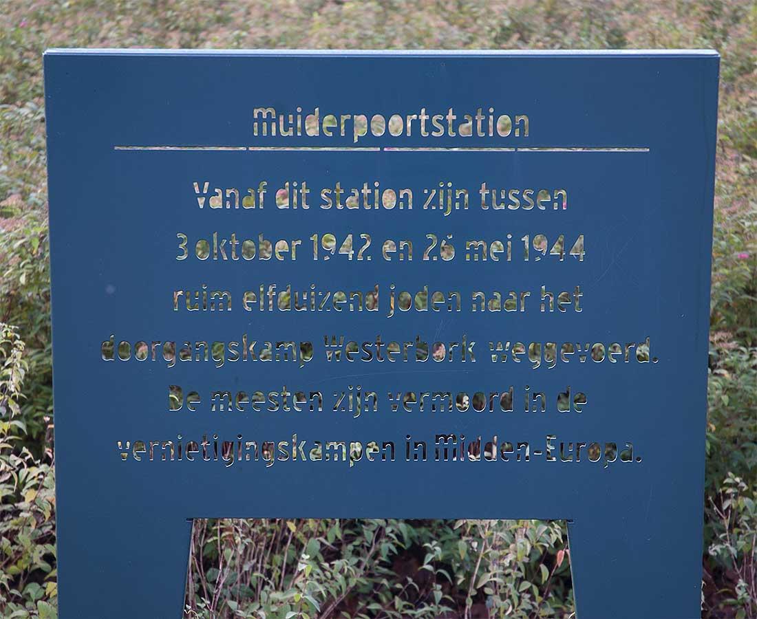 Plaquette Jodenherdenking Oosterspoorplein